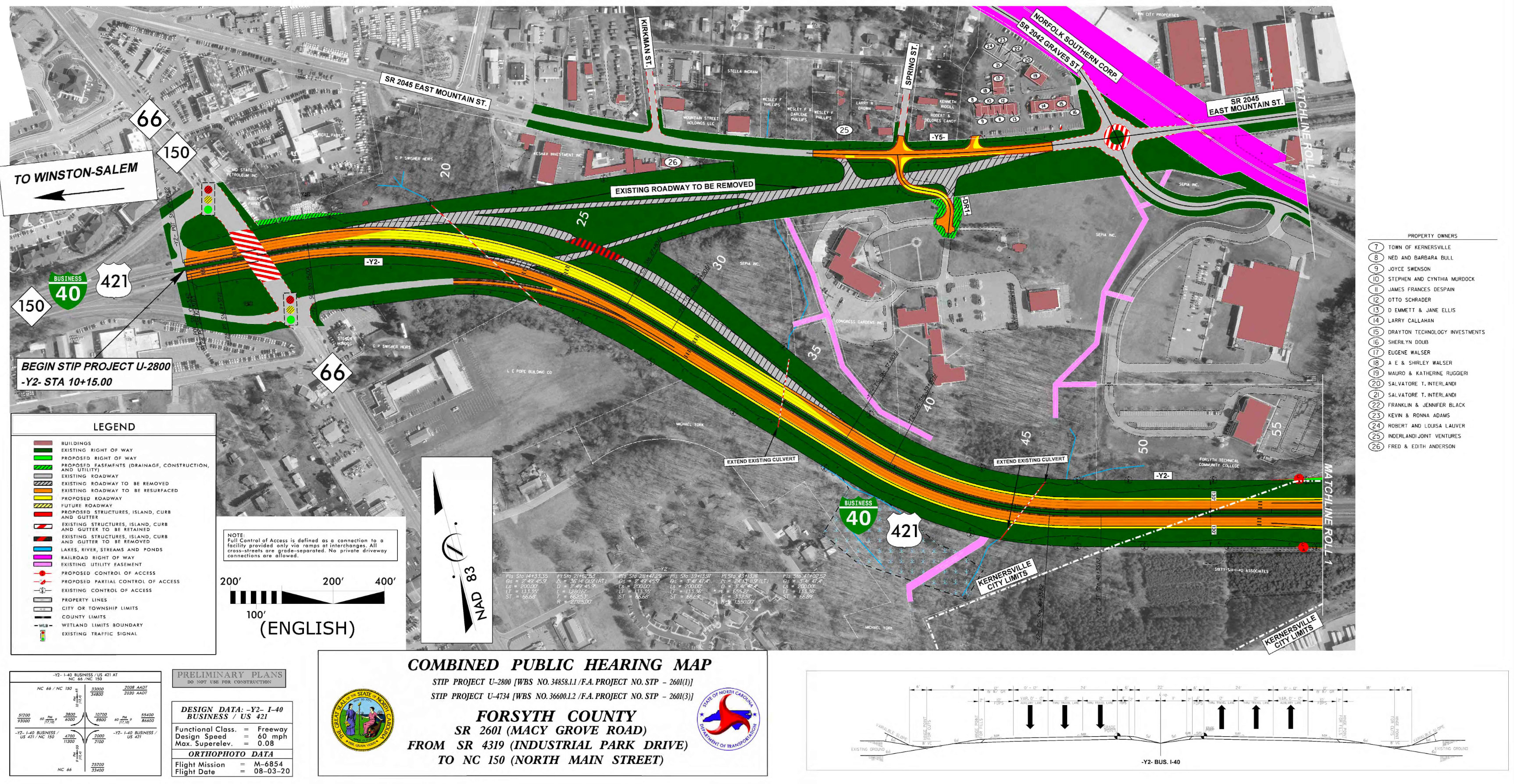 Macy Grove Road, Project U-4734, Kernersville, NC Forsyth County