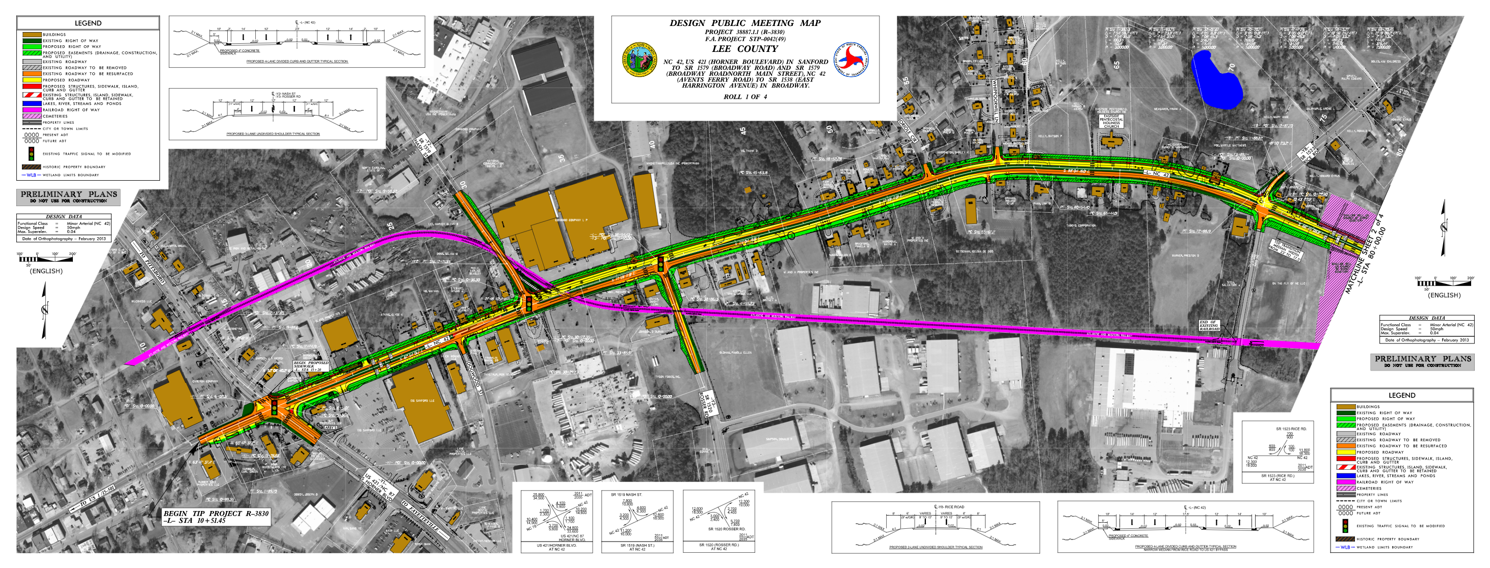 Nc 42 Widening Project In Lee County Sanford And Broadway Nc